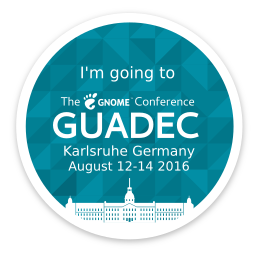 I am going to GUADEC 2016